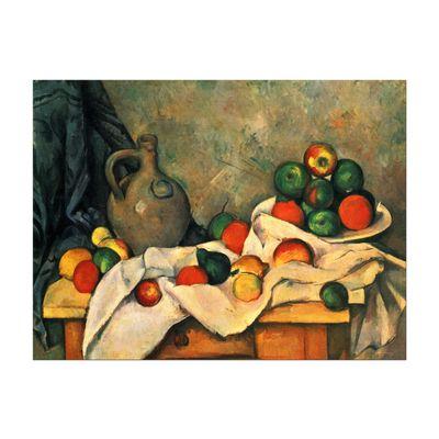 Kunstdruck - Alte Meister - Paul Cézanne - Stillleben mit Vorhang, Krug und Obstschale – Bild 2