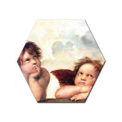 Kunstdruck - Alte Meister - Raffael - Engel - Detail Sixtinische Madonna – Bild 7