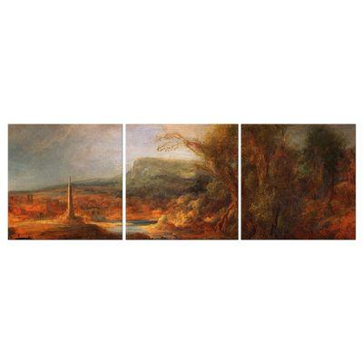 Kunstdruck - Alte Meister - Rembrandt - Landschaft mit Obelisk – Bild 3