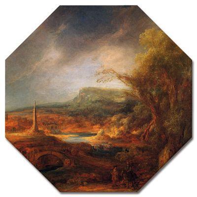 Kunstdruck - Alte Meister - Rembrandt - Landschaft mit Obelisk – Bild 9