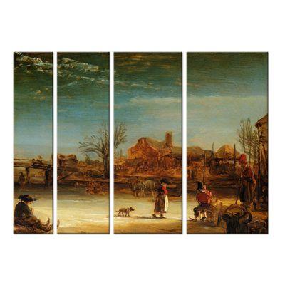 Rembrandt - Winterlandschaft – Bild 7