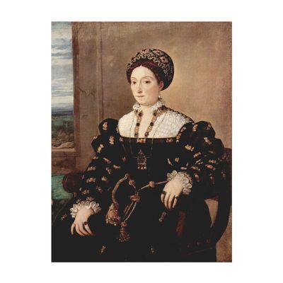 Kunstdruck - Alte Meister - Tizian - Porträt der Eleonora Gonzaga della Rovere – Bild 2