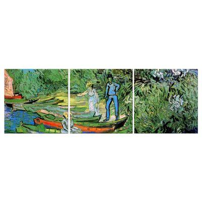 Leinwandbild - Alte Meister - Vincent van Gogh - Boote am Ufer der Oise – Bild 5