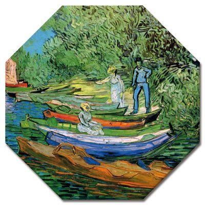 Leinwandbild - Alte Meister - Vincent van Gogh - Boote am Ufer der Oise – Bild 8