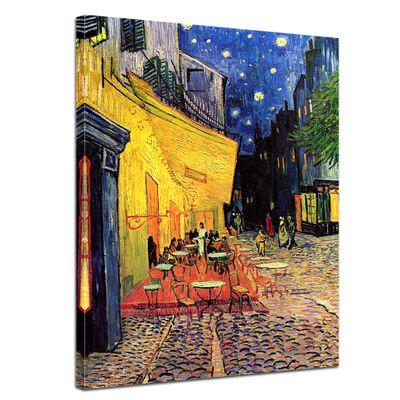 Leinwandbild - Alte Meister - Vincent van Gogh - Caféterrasse am Abend – Bild 1