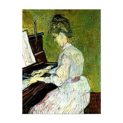 Leinwandbild - Alte Meister - Vincent van Gogh - Marguerite Gachet am Klavier – Bild 2