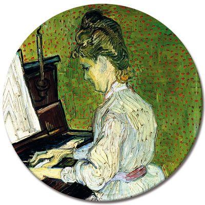 Leinwandbild - Alte Meister - Vincent van Gogh - Marguerite Gachet am Klavier – Bild 3