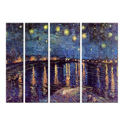 Leinwandbild - Alte Meister - Vincent van Gogh - Sternennacht über der Rhône – Bild 7