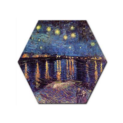 Leinwandbild - Alte Meister - Vincent van Gogh - Sternennacht über der Rhône – Bild 5