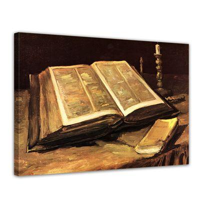 Leinwandbild - Alte Meister - Vincent van Gogh - Stillleben mit Bibel – Bild 1