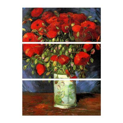 Leinwandbild - Alte Meister - Vincent van Gogh - Vase mit roten Mohnblumen – Bild 4
