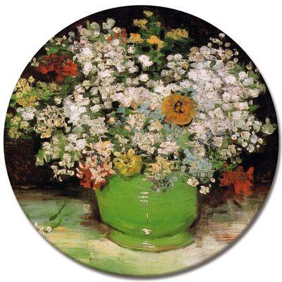 Leinwandbild - Alte Meister - Vincent van Gogh - Vase mit Zinnias und anderen Blumen – Bild 3