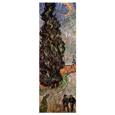 Leinwandbild - Alte Meister - Vincent van Gogh - Zypressenweg unter dem Sternenhimmel – Bild 8