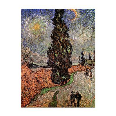 Kunstdruck - Alte Meister - Vincent van Gogh - Zypressenweg unter dem Sternenhimmel – Bild 2
