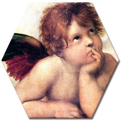 Leinwandbild - Raffael Engel I - Detail Sixtinische Madonna – Bild 4