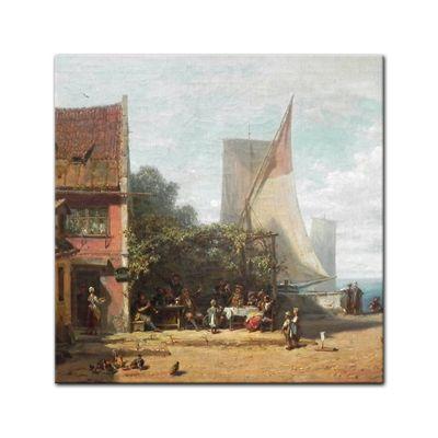 Leinwandbild - Alte Meister - Carl Spitzweg - Alte Schänke am Starnberger See – Bild 6