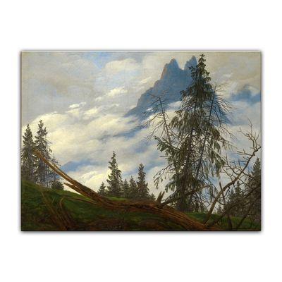 Caspar David Friedrich - Berggipfel mit ziehenden Wolken – Bild 2