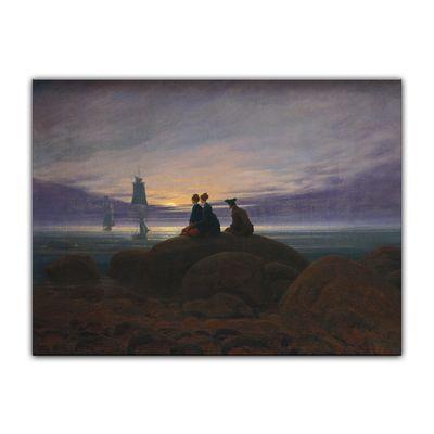 Kunstdruck - Alte Meister - Caspar David Friedrich - Mondaufgang am Meer – Bild 2