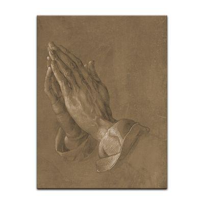 Leinwandbild - Alte Meister - Albrecht Dürer - betende Hände – Bild 2