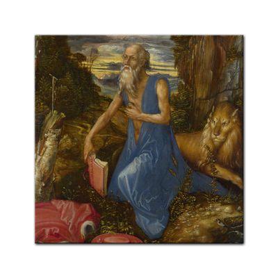 Leinwandbild - Alte Meister - Albrecht Dürer - Büßender Hieronymus – Bild 3