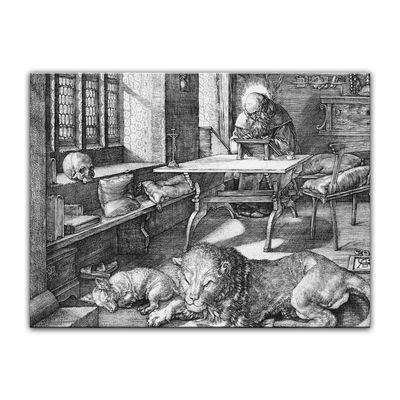 Leinwandbild - Alte Meister - Albrecht Dürer - Der heilige Hieronymus im Gehäus – Bild 3
