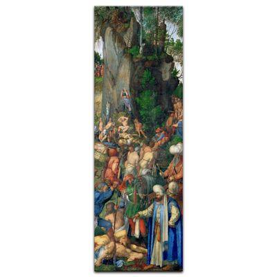 Leinwandbild - Alte Meister - Albrecht Dürer - Marter der zehntausend Christen – Bild 3