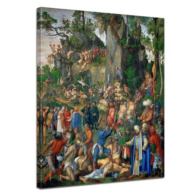 Leinwandbild - Alte Meister - Albrecht Dürer - Marter der zehntausend Christen – Bild 1