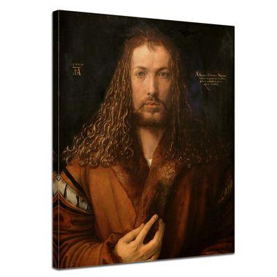 Leinwandbild - Alte Meister - Albrecht Dürer - Selbstbildnis im Pelzrock – Bild 1