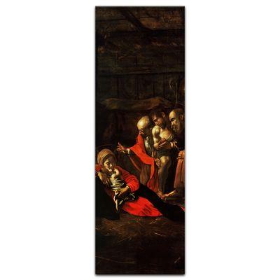 Leinwandbild - Alte Meister - Caravaggio - Anbetung der Hirten – Bild 3