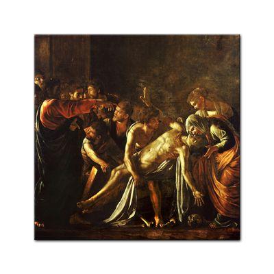 Leinwandbild - Alte Meister - Caravaggio - Auferweckung des Lazarus – Bild 3