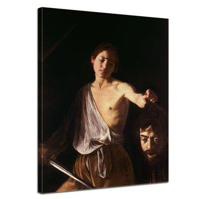 Leinwandbild - Alte Meister - Caravaggio - David mit dem Haupt des Goliath – Bild 1