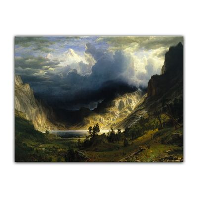 Albert Bierstadt - A Storm in the Rocky Mountains - Sturm in den Rocky Mountains, Mt. Rosalie – Bild 2