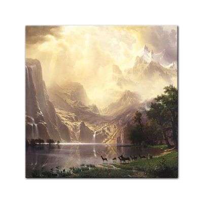 Albert Bierstadt - Among the Sierra Nevada Mountains - Zwischen den Sierra Nevada Mountains – Bild 6