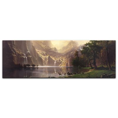Albert Bierstadt - Among the Sierra Nevada Mountains - Zwischen den Sierra Nevada Mountains – Bild 3