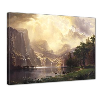 Albert Bierstadt - Among the Sierra Nevada Mountains - Zwischen den Sierra Nevada Mountains – Bild 1
