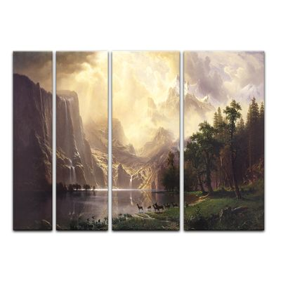 Albert Bierstadt - Among the Sierra Nevada Mountains - Zwischen den Sierra Nevada Mountains – Bild 7