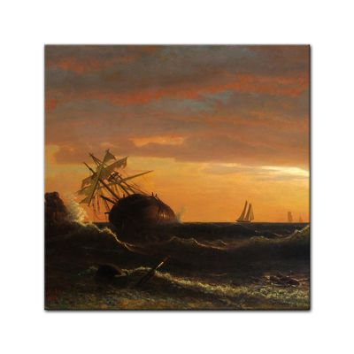 Albert Bierstadt - Beached Ship – Bild 4
