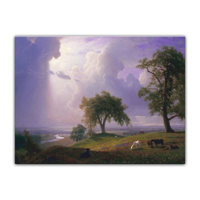 Leinwandbild - Alte Meister - Albert Bierstadt - California Spring – Bild 2