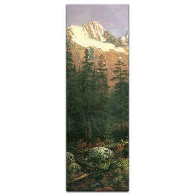 Leinwandbild - Alte Meister - Albert Bierstadt - Canadian Rockies – Bild 4