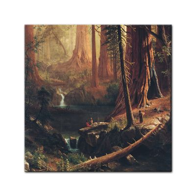 Kunstdruck - Alte Meister - Albert Bierstadt - Giant Redwood Trees of California – Bild 3