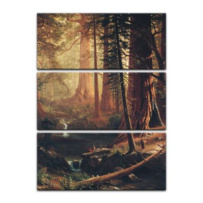 Kunstdruck - Alte Meister - Albert Bierstadt - Giant Redwood Trees of California – Bild 4