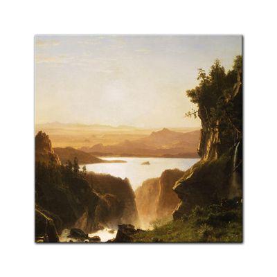 Albert Bierstadt - Island Lake, Wind River Range, Wyoming – Bild 9