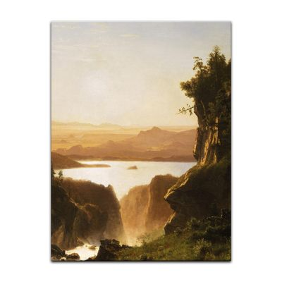 Albert Bierstadt - Island Lake, Wind River Range, Wyoming – Bild 6