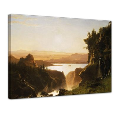 Kunstdruck - Alte Meister - Albert Bierstadt - Island Lake, Wind River Range, Wyoming – Bild 1