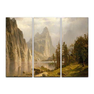 Kunstdruck - Alte Meister - Albert Bierstadt - Merced River Yosemite Valley – Bild 3