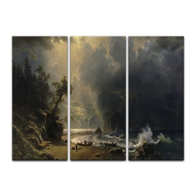 Kunstdruck - Alte Meister - Albert Bierstadt - Puget Sound on the Pacific Coast – Bild 13