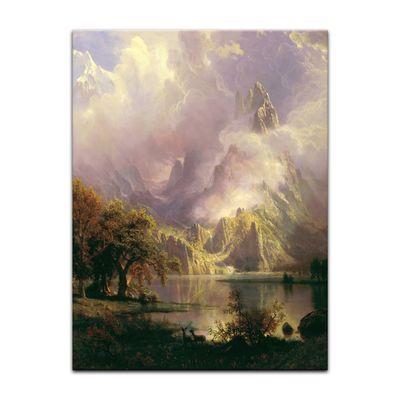 Kunstdruck - Alte Meister - Albert Bierstadt - Rocky Mountain Landscape – Bild 10