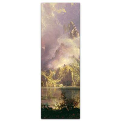 Kunstdruck - Alte Meister - Albert Bierstadt - Rocky Mountain Landscape – Bild 4