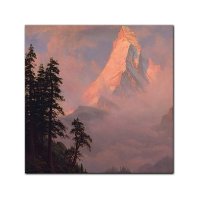 Kunstdruck - Alte Meister - Albert Bierstadt - Sunrise on the Matterhorn – Bild 5