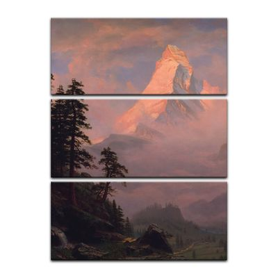 Kunstdruck - Alte Meister - Albert Bierstadt - Sunrise on the Matterhorn – Bild 10